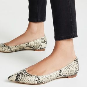 New Sam Edelman Sally Snake Flats